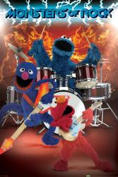 Sesame Street poster: Monsters of Rock (24'' X 36'') New