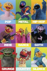 Sesame Street poster: Music Genres (24'' X 36'') New