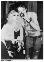 Sex Pistols poster: Sid & Nancy at Vortex, London 1977 (23 1/2 X 33)