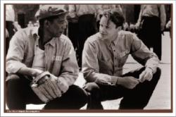 The Shawshank Redemption movie poster [Morgan Freeman & Tim Robbins]