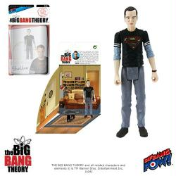 "The Big Bang Theory: Sheldon 4"" action figure in black Superman shirt"