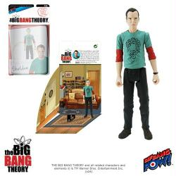 "The Big Bang Theory: Sheldon 4"" action figure in Riddler shirt"