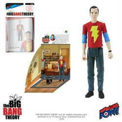"The Big Bang Theory: Sheldon 4"" action figure in Shazam shirt"