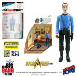 "The Big Bang Theory: Sheldon 4"" action figure in Mr. Spock outfit"
