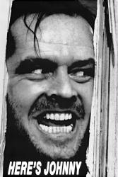 The Shining movie poster: Here's Johnny [Jack Nicholson] 24x36