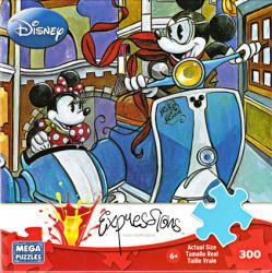 Mickey & Minnie Mouse jigsaw puzzle: Sidecar Adventures [Disney] 300pc