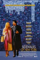 Sidewalks of New York movie poster [Edward Burns/Heather Graham] 27x40
