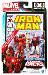 Marvel Universe: Iron Man Silver Centurion vs. Mandarin figure 2-pack