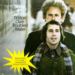 Simon & Garfunkel poster: Bridge Over Troubled Water LP/album flat