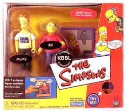 Simpsons: KBBL Environment w/ Marty & Bill figures (Playmates/2002)