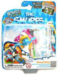 The Smurfs: Smurfette figure backpack clip with Swappz Coin