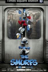 The Smurfs movie poster (2011) original 27 X 40 advance