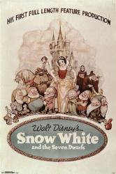 Snow White and the Seven Dwarfs movie poster (24x36) 1937 Walt Disney