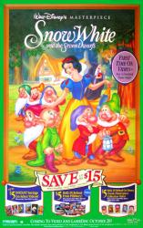 Snow White and the Seven Dwarfs movie poster [Disney video poster]