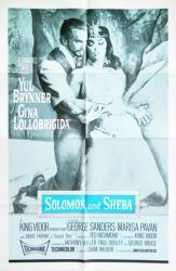 Solomon and Sheba movie poster [Yul Brynner, Gina Lollobrigida] 27x41