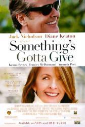Something's Gotta Give movie poster [Jack Nicholson, Diane Keaton]
