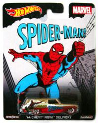 Hot Wheels: Marvel Spider-Man die-cast '64 Chevy Nova Delivery vehicle