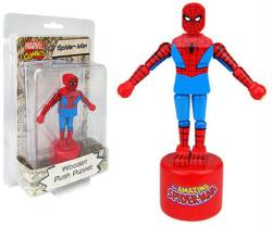 Marvel Comics: Spider-Man Wooden Push Puppet figure