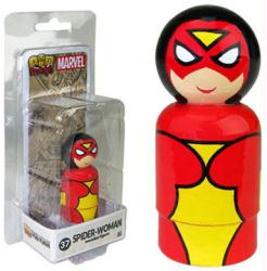 Marvel: Spider-Woman Pin Mate #37 wooden figure (Bif Bang Pow)