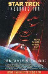 Star Trek: Insurrection movie poster (1998) video version