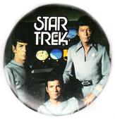 Star Trek pinback: Spock, Kirk & McCoy (2.25'' Button)