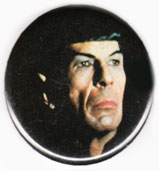 Star Trek pinback: Mr. Spock close-up (2.25'' Button)