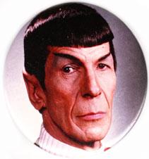 Star Trek pinback: Spock close-up (3'' Button)