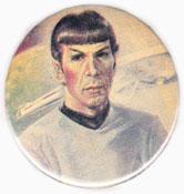 Star Trek pinback: Spock drawing (2.25'' vintage button)