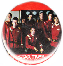 Star Trek Wrath of Khan pinback: U.S.S. Enterprise Crew (3'' Button)