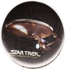 Star Trek The Wrath of Khan pinback: U.S.S. Enterprise (3'' Button)