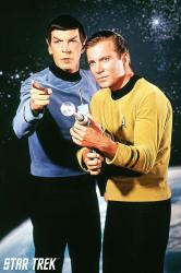 Star Trek poster: Kirk and Spock (24x36) original TV series