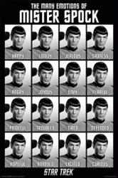 Star Trek poster: Many Emotions of Mr. Spock [Leonard Nimoy] 24 X 36