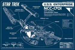 Star Trek poster: U.S.S. Enterprise Blueprint Plans (36 X 24) New