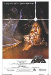 Star Wars movie poster [Mark Hamill & Carrie Fisher] 27'' X 40''
