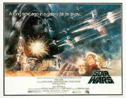 Star Wars movie poster [Mark Hamill/Alec Guinness] 38'' X 27''