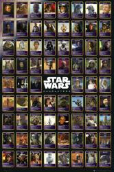 Star Wars poster: Characters Chart (24'' X 36'') New