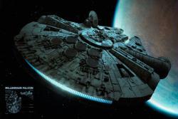 Star Wars movie poster: The Millennium Falcon (36'' X 24'') New