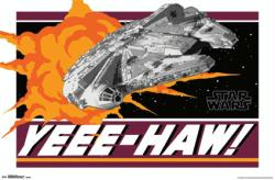 Star Wars movie poster: Yeee-Haw! (34x22) Millennium Falcon