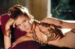 Star Wars poster [Carrie Fisher] Princess Leia/Prisoner Outfit (34x22)