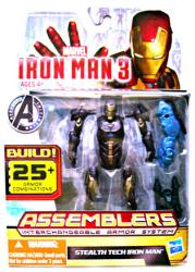 Iron Man 3 [Assemblers] Stealth Tech Iron Man figure (Hasbro/2012)