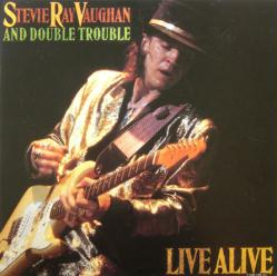 Stevie Ray Vaughan & Double Trouble poster: Live Alive album flat 1986
