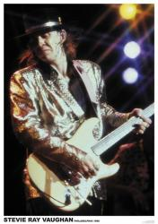 "Stevie Ray Vaughan poster: Philadelphia 1986 (23 1/2"" X 33"")"