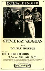 Stevie Ray Vaughan & Double Trouble w/ The Thunderbirds poster (11x17)