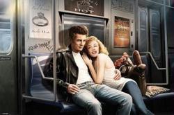 Subway Ride poster [James Dean & Marilyn Monroe] 36 X 24
