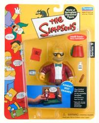 Simpsons Series 9: Sunday Best Grampa action figure (Playmates/2002)