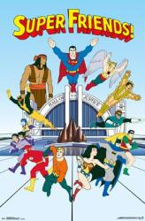 Super Friends poster (22x34) Classic Hanna-Barbera animated TV series