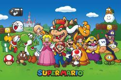 Super Mario poster: Characters (36x24) Nintendo