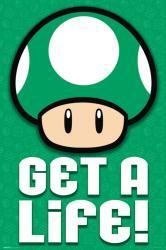 Super Mario poster: Get A Life! (24x36) Toad
