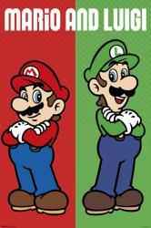 Super Mario poster: Mario and Luigi (24x36) Nintendo video game stars