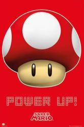 Super Mario poster: Power Up (24'' X 36'') Nintendo's Toad